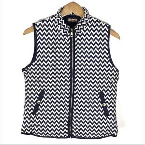 Jackets & Coats - Blue Ivory Zip Up Puffer Vest with Pockets